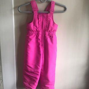 Girls 4t pink snow bib